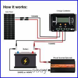 100Watt Monocrystalline Solar Panel 18V 12V Off Grid RV Marine Battery Charger