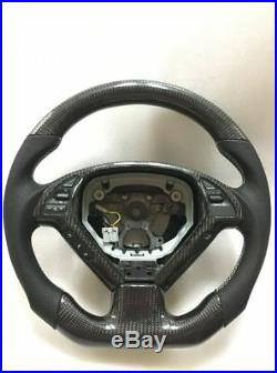 100% Real Carbon Fiber/Leather Car Steering Wheel For Infiniti G37
