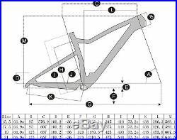 15.5/17.5/19/21 T700 Carbon Full Suspension 29er Carbon Mountain Mtb Bike Frame
