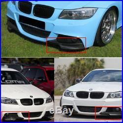 2x Real Carbon Fiber Front Bumper Splitter Lip For BMW E90 335i 328i LCI M-Tech