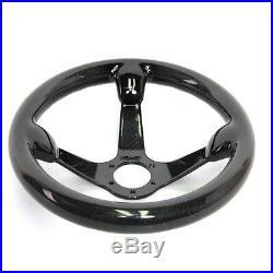 300MM Bolts Racing Steering Wheel Cover Carbon Fiber 6 Holes Universal Black