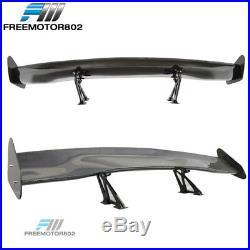56 Inch Universal Fit 3D Carbon Fiber JDM GT Style Rear Trunk Spoiler Wing