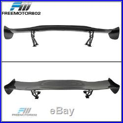 57 Inches Universal Fit 3D Carbon Fiber (CF) Racing GT Rear Trunk Spoiler Wing