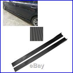 86.6'' Lower Side Skirt Body Kit Extension Lip Universal Carbon Fiber