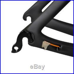 AERO 49cm BB86 Carbon Road Bike Frame Fork Seatpost Race 700C black matt glossy