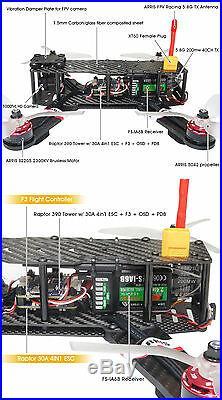 ARRIS X-Speed 250B V3 250 FPV Racing Drone Assembled RTF ARRIS EV800 Goggles