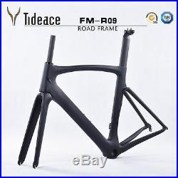Aero Full Carbon Fiber Road Racing Bike Frames OEM Cycling Bicycle Frameset PF30