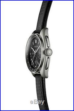 Bulova Men's Quartz UHF Chronograph Calendar Date Black Dial 45mm Watch 96B251