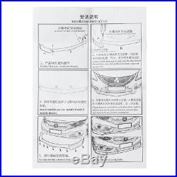 Carbon Fiber Look Front Bumper Lip Spoiler Chin Body Kit For Honda Civic Accord