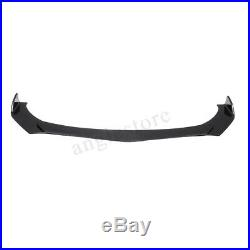 Carbon Fiber Look Universal Car Front Bumper Lip Chin Spoiler Splitters Body Kit