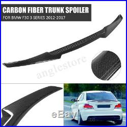 Carbon Fiber M4 Style Rear Trunk Spoiler Lip For BMW F30 3 Series Sedan 2012-17