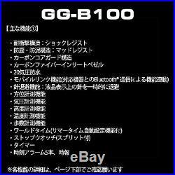 Casio G-Shock GG-B100-1A9JF Mudmaster Carbon Core Bluetooth Men Watch GG-B100-1A