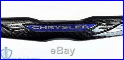 Chrysler 300 Black Carbon Fiber Rear Trunk Lid Emblem 11-19 Badge OEM Mopar Wing