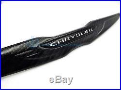 Chrysler 300 SRT8 15-18 Black Carbon Fiber Wing Emblem Front Grille Badge Mopar