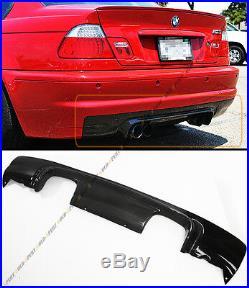 Csl Style 2-tone Carbon Fiber Rear Bumper Diffuser For 2002-06 Bmw E46 M3 Coupe