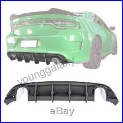 Fit 15-19 Dodge Charger SRT Carbon fiber Style Rear Lip Bumper Valance Diffuser