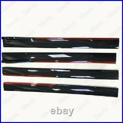 Fit for Honda Side Skirts Extension Panel Splitters 94'' Black Red Carbon Fiber