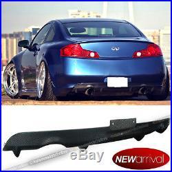 For 03-07 G35 2DR Carbon Fiber Rear Bumper Diffuser Lip Body Kit Add On