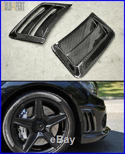 For 08-11 Mercedes Benz W204 C63 Amg Bumper Carbon Fiber Air Vent Duct Cover X 2