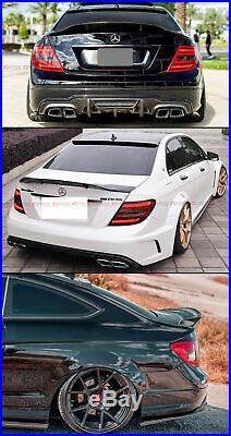 For 08-14 Mercedes Benz W204 C250 C300 Carbon Fiber Duckbill Trunk Spoiler Wing
