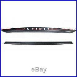 For 14-17 Infiniti Q50 Q50S Carbon Fiber Back Trunk Trim Body Kit Mounting Cover