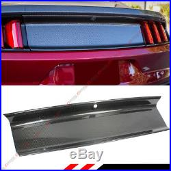 For 2015-2018 Ford Mustang Gt Real Carbon Fiber Trunk Panel Decklid Trim Cover