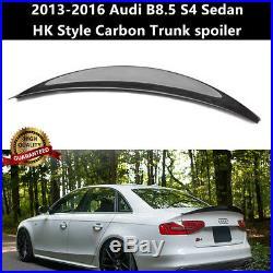 For Audi S4 B8.5 Sedan 2013-2016 Carbon Fiber Trunk Spoiler Wing HK Style