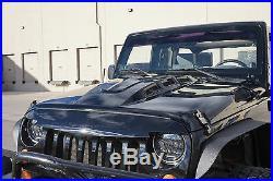 For Jeep Wrangler JK 2007-2018 Custom AVG Avenger Style Hood Plastic Vents