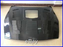 GTR R35 Carbon Fiber with Center glass Hood Bonnet Fit for Nissan