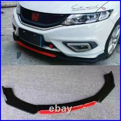 Gloss Black Front Bumper Lip Splitter For 2013-2015 9th Honda Civic Sedan SI