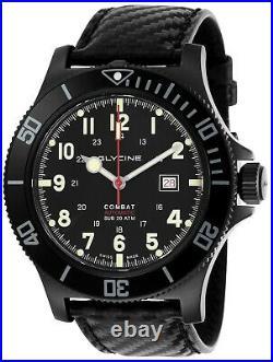 Glycine GL0241 Men's Combat Sub 48 Automatic 48mm Black PVD Watch