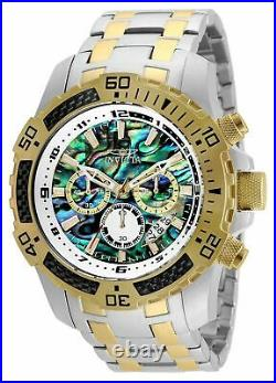 Invicta Pro Diver 51mm Quartz Chrono Rainbow Dial SS Two-Tone Men's Watch 25093