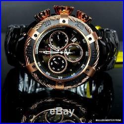 Invicta Reserve Thunderbolt JT Jason Taylor 52mm Rose Gold Tone Black Watch New