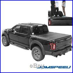 Jdmspeed Lock Hard Tri Fold Tonneau Cover For 2015 19 Ford F 150 5 5ft Short Bed Carbon Fiber Black