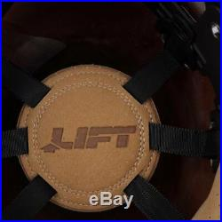 Lift Safety HDF-50C19HC Dax 50/50 Carbon Fiber Full Brim Hard Hat Yellow-Black