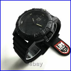 Men's Luminox Leatherback Sea Turtle Blackout 44mm Watch 0321. BO