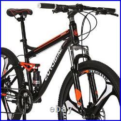 Mountain Bike 27.5 Mag wheels Full Suspension Bicycle 21 Speed MTB Mens bikes