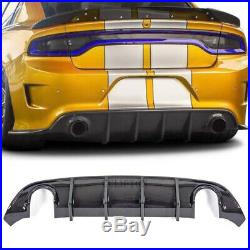 New Rear Bumper Diffuser Fits 15-19 Dodge Charger Daytona Carbon Fiber Style