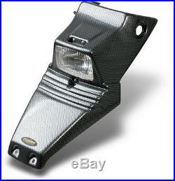 New Suzuki Lt80 Kawasaki Kfx80 Black Carbon Fiber Look Headlight Hood Plastics