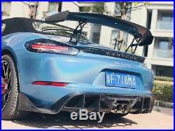 Porsche 718 Carbon Fiber Body Kit Rear Carbon Fiber Spoiler Wings