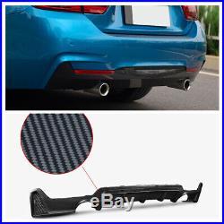 Rear Bumper Diffuser For BMW F32 F33 435i M Tech Dual Tip Exhaust Carbon Fiber