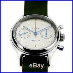 Seagull Chronograph Mens Pilot watch Official Reissue 304 St19 1963 Sapphire