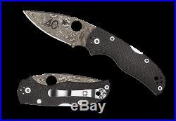 Spyderco Native 5 Fluted Carbon Fiber 40th Anniversary Folding Knife C41CF40th