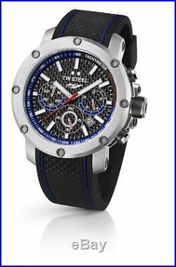 TW Steel TW925 Men's Yamaha Factory Chronograph 48mm Black Dial Rubber Watch