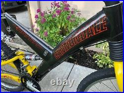 Vintage Cannondale Super V Raven 2000 Carbon Full Suspension Mountain Bike Magic